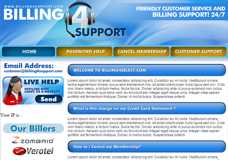 Billing 4 support